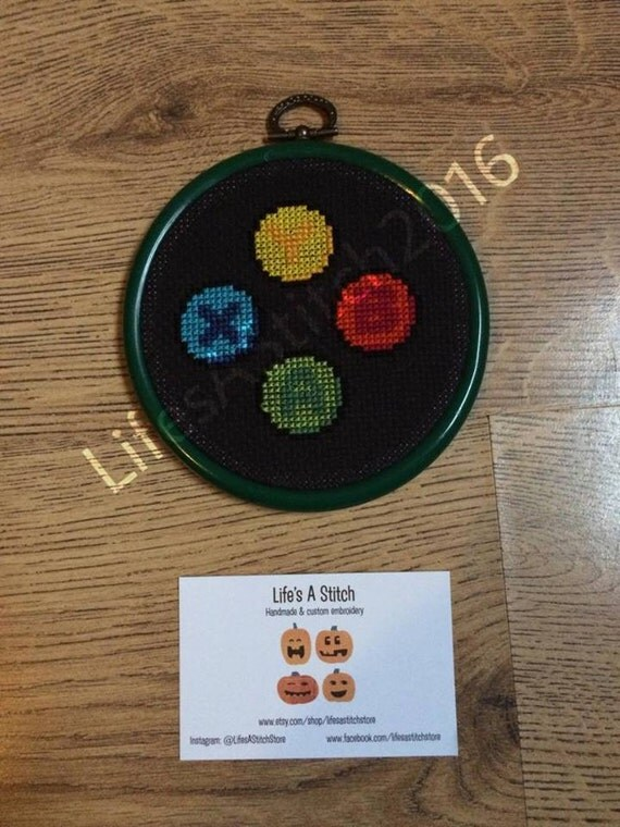 Xbox mounted cross stitch by lifesastitchstore on etsy