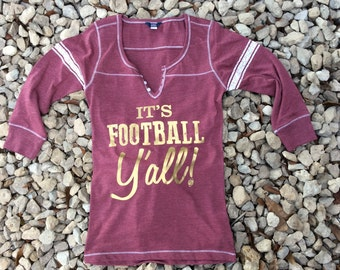 Hailey Henley Maroon Game Day Shirt