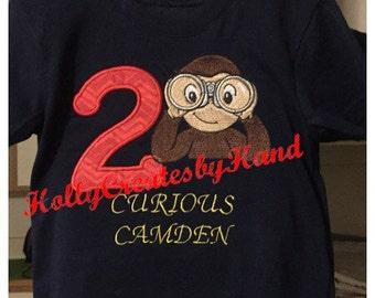 Curious George Shirt, Curious George Birthday Shirt