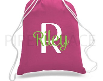 Personalized Drawstring Bag, Drawstring Bag, Children's Backpacks, Drawstring Backpack, Child's Bag, Girl's Toy Bag, Kid's Drawstring Bag