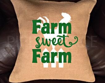 Farm Pillow Cover, Farm Decor, Farm Home Decor, Throw Pillow Covers, Decorative Pillow Covers, Country Decor, Rustic Home Decor