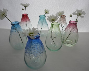 Bud Vases.  Introducing our New Blown Glass Vases - Each One Crafted with Care by Jeff Hesselink at the Glassmaker's Bench