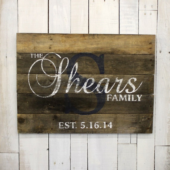 Wedding Gift Name Sign : Wedding Custom Wood Name Sign Custom Wedding Gift Pallet Name Sign ...