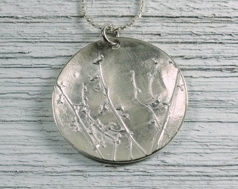 Silver Weeds Pendant