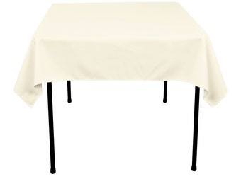 54 inch Square Ivory Tablecloth Polyester | Wedding Tablecloth