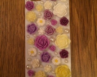 iPhone 5/5s Purple/Yellow Floral Case