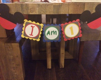 Mickey House Clubhouse High Chair Banner, Mickey Mouse High Chair Banner