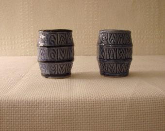 Japanese > Barrel Shaped Toothpick Holders > Blue