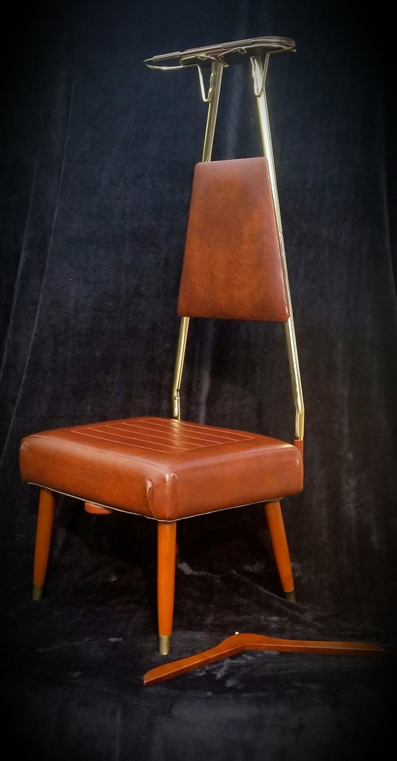 Mid Century Valet Danish Modern Butler Chair Mcm Gentlemans