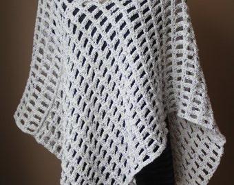 Open Weave Crochet Poncho Pattern, Crochet Poncho Pattern, Boho Poncho Pattern, Poncho Pattern, Instant Download