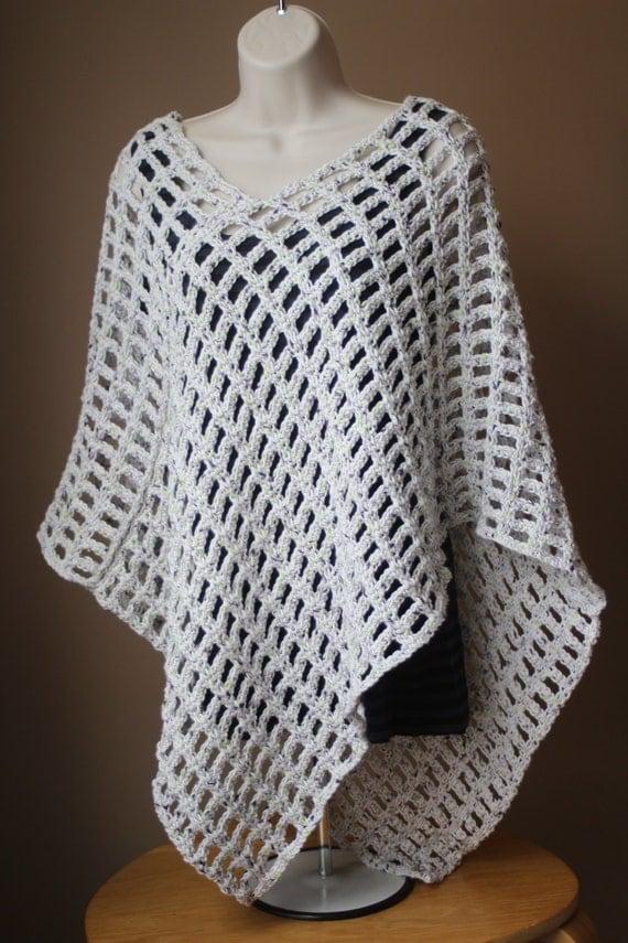 Open Weave Crochet Poncho Pattern Crochet Poncho Pattern