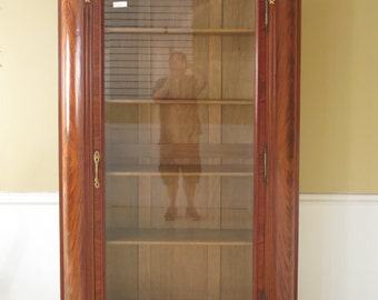 F40517E:  Antique French Louis XV Curio Display Cabinet