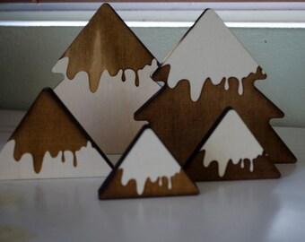 Christmas Tree set of 5