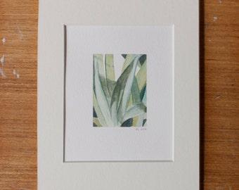 Small Green Botanical Watercolor