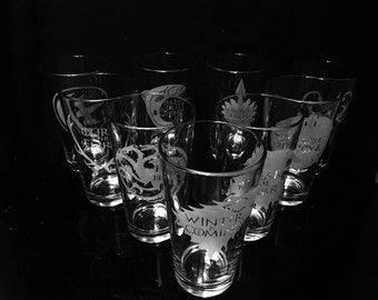 Game of Thrones Pint Glass- Choice of 4