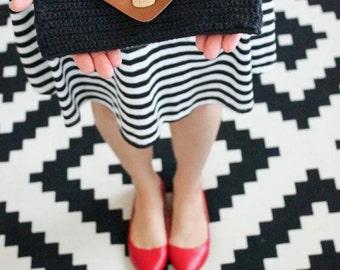Crochet Foldover Clutch, Crochet Clutch Purse, Envelope Crochet Purse, Leather Cover Purse, Handbag Clutch Purse, Evening Bag Wristlets