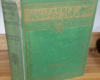 Fabre's Book of Insects -  Antique Book Dodd, Mead and Company 1936 Third Printing - Good Condition