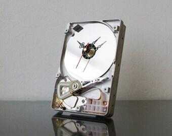 Hard Drive Clock - Unique Desk Clock - Industrial Clock - Modern Clock - Computer Clock - Unique Gift - Husband Gift - Boyfriend Gift
