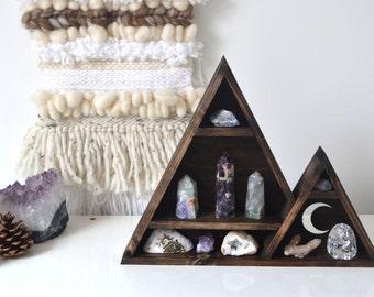 Triangle Mountain Shelf- Crescent Moon