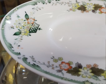 Provencial Plate with Flower Border