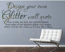 design your own glitter wall decal create your own wall decal custom wall decal