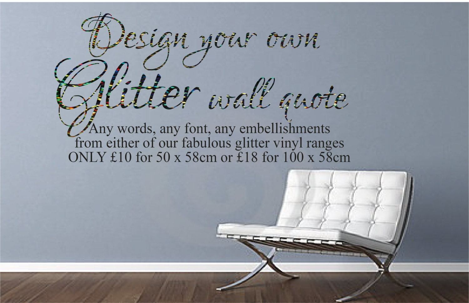 Design your own glitter wall decal Create Your by
