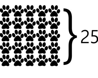 25 Puppy Paw Wall Decal