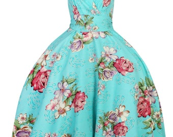 Sarah-P flower garden vintage 50's retro rockabilly swing dress