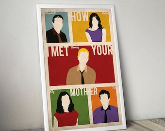 How I Met Your Mother poster alternative poster TV show poster Barney Marshall Lily Robin Ted HIMYM Manhattan poster New York poster