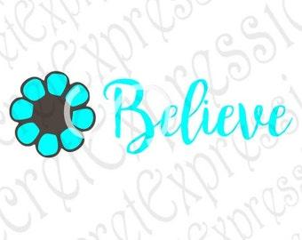 Believe Svg, Believe Sign Svg Girl Svg, Little Girl Svg, Flower Svg, Digital Cutting File, DXF, JPEG, SVG Cricut, Svg Silhouette, Print File