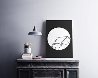 Hexa Geo - 4 differents models - Printable art , Instant download , wall art deco