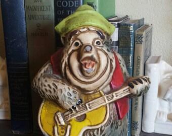 """1970s Disneyland """"Big Al"""" Country Bear Jamboree Ceramic Piggy Bank"""