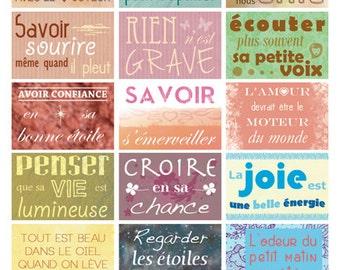 Board 18 positive phrases stickers