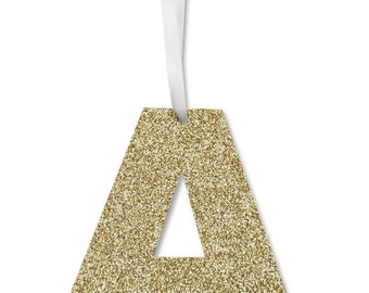 Glitter Alphabet Ornaments, Gift Tags