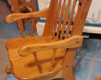 childu0027s rocking chair wooden vintage rocker for children