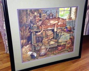 "Charles Wysocki ""Remington The Horticulturist"" Limited Edition Signed Litho 1994 1420/15000"