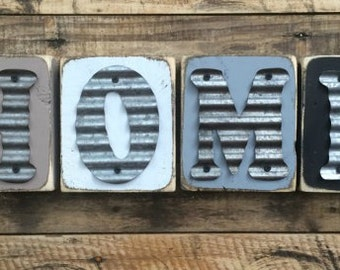 Rustic Metal Letters Etsy