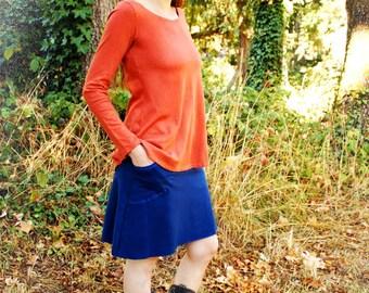 Iris Top, Long Sleeve, Hemp and Organic Cotton