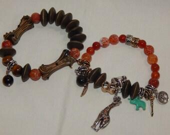 Tribal beaded bracelet set