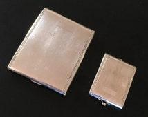 Vintage Edwardian Cigarette Case and Match Safe Vesta E.A.M. Elgin American