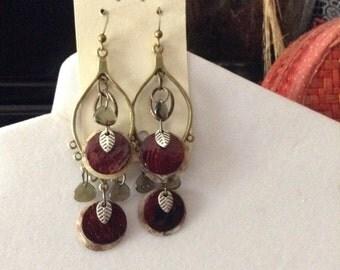 Shell / Czech Glass Earrings