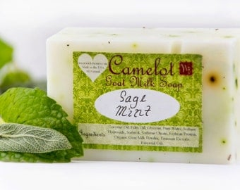 Camelot Goat Milk Soap - Sage Mint (4oz)