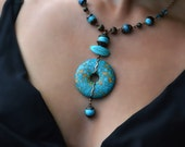 Variscite - Sea Jasper - Turquoise - Natural Stone - necklace - native american