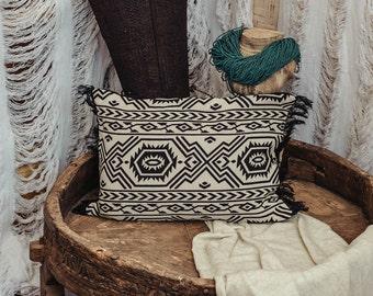 Black And White Pillow Cover 12X18 Rectangle,Aztec Pillow,Tribal Pillow,Decorative Throw Pillow Cover,Southwestern Boho Pillow