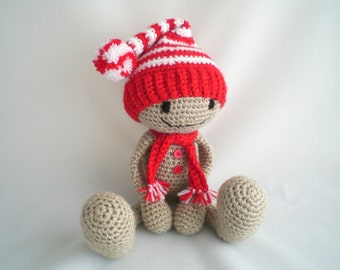 Crochet Gingerbread Man / Christmas Gingerbread man / Amigurumi Gingerbread man /  Plush Soft Toy / Christmas Decoration / Stocking Filler.