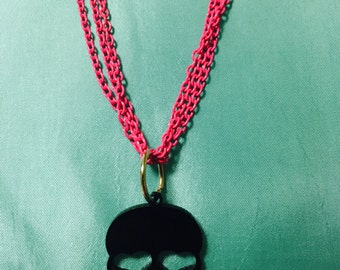 Skull Necklace, Sugar Skull Necklace, Day of the Dead Necklace