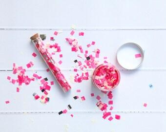 Neon Pink Confetti Mix