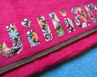 Custom Name Towel great for the Beach or Bath Gift