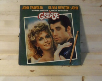 Grease Soundtrack Record John Travolta Olivia Newton John 70's record