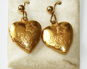 14ct Gold Plated Locket Earrings